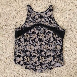 Floral lululemon mesh workout tank